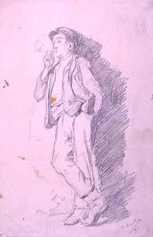 Home fumant   Sancho Piqué, Josep