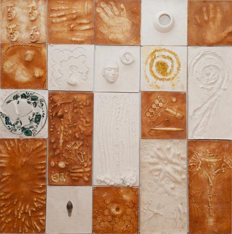 El mur d'empremtes IV | Bizot, Béatrice