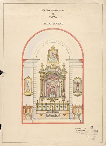 Altar Major església parroquial de Moià | Martorell, J.