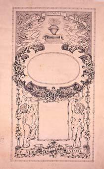 Esbós d'estampa del cor de Jesús | Sancho Piqué, Josep