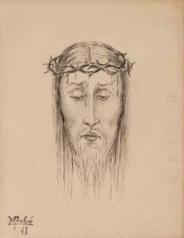 Cap de Jesucrist amb corona d'espines | desconegut