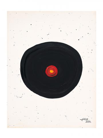 Cercle negre amb punt vermell | Vallès Ferré, Jordi