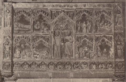 Montblanc. Església de Santa Maria. Baix relleu | Català i Pic, Pere