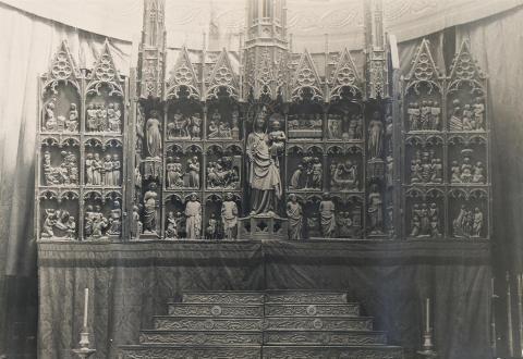 Tortosa. Catedral. Tríptic de l'Altar Major | Borrell i Codorniu, Ramon (Tortosa, 1869 - 1948)
