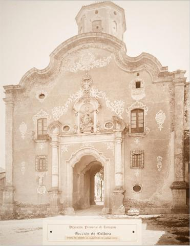 Monestir de Santes Creus. Porta d'ingrés | Vallvé Vilallonga, Hermenegild