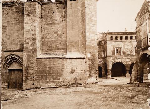 Horta de Sant Joan. Plaça de l'església | Vallvé Vilallonga, Hermenegild