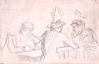 Homes asseguts | Sancho Piqué, Josep