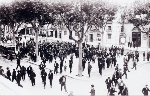 Tarragona. Manifestació de rabassaires | Vallvé Vilallonga, Hermenegild