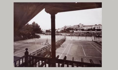 Tarragona. Vista de la muralla des de l'antic Club de tennis | Vallvé Vilallonga, Hermenegild