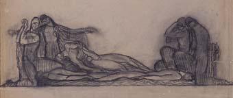 Estudi per a un fris. Monument a Granados | Julio Antonio (Rodríguez Hernández, Julio Antonio)