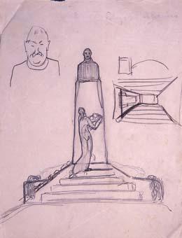 Esbós de monument a Saavedra | Julio Antonio (Rodríguez Hernández, Julio Antonio)