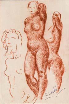 Estudis de nu femení   Costa Vaqué, Santiago