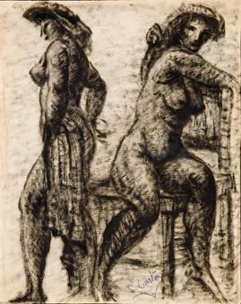 Dues figures femenines   Costa Vaqué, Santiago