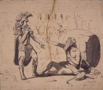 Alejandro Magno y Diógenes | Sancho Piqué, Josep
