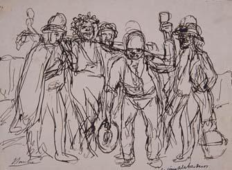 Los cinco alabarderos | Sancho Piqué, Josep