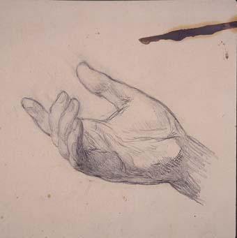 Estudi d'una mà | Sancho Piqué, Josep