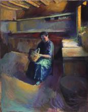Dona amb cistell | Sancho Piqué, Josep