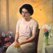 Dona amb flors | Sancho Piqué, Josep