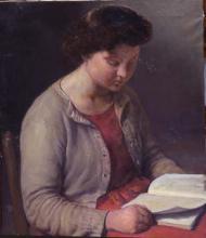 Dona llegint | Sancho Piqué, Josep