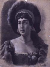 Bust de dona amb barret | Sancho Piqué, Josep