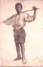Noi del bastó al coll | Sancho Piqué, Josep
