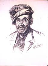 Vell amb gorra | Sancho Piqué, Josep