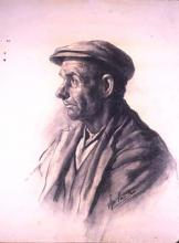 Home del poble amb gorra | Sancho Piqué, Josep