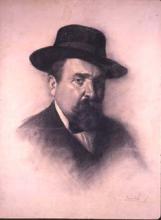 Autoretrat amb barret | Sancho Piqué, Josep