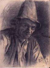 Home amb barret | Sancho Piqué, Josep