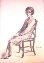 Noia asseguda | Sancho Piqué, Josep