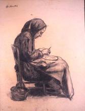 Dona pelant patates | Sancho Piqué, Josep