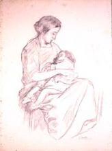 Dona amb nen a la falda | Sancho Piqué, Josep