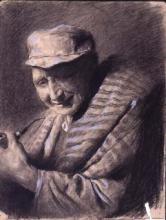 Vell amb manta i gorra | Sancho Piqué, Josep