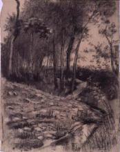 Sèquia, arbres | Sancho Piqué, Josep