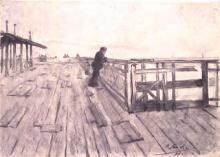 Home mirant el mar | Sancho Piqué, Josep
