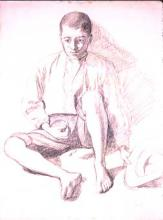 Noi assegut | Sancho Piqué, Josep
