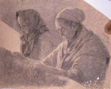 Dues dones pregant | Sancho Piqué, Josep