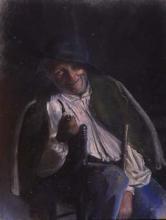 Vell amb pipa i bastó | Sancho Piqué, Josep