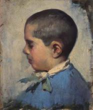 Perfil cap de nen   Sancho Piqué, Josep