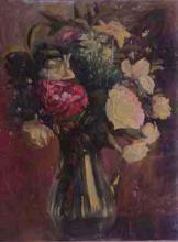 Gerro de vidre amb flors   Sancho Piqué, Josep