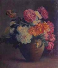 Gerro de terrissa amb flors   Sancho Piqué, Josep