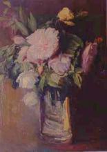 Gerro de vidre amb flors | Sancho Piqué, Josep