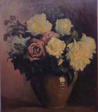 Gerro de terrissa amb flors | Sancho Piqué, Josep