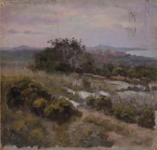 Castanyer, al fons platja | Sancho Piqué, Josep